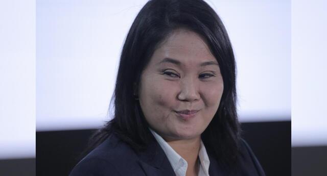 La candidata presidencial Keiko Fujimori continúa por debajo de Pedro Castillo, según resultados de la ONPE.
