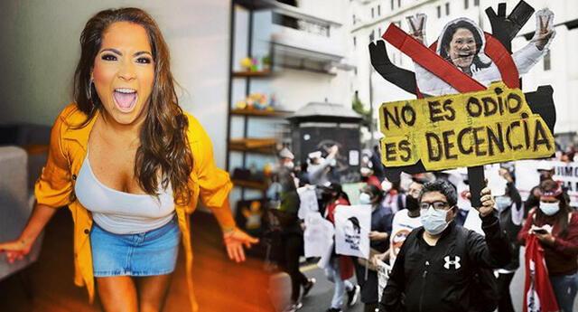 """Katia Palma indignada con usuario que la llamó fujimorista: """"Tú qué sabes de mí"""""""