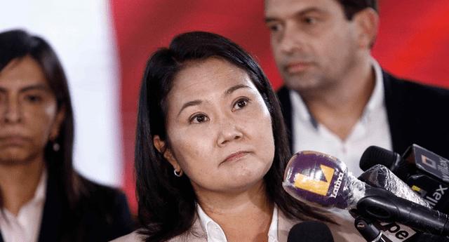 Abogados independientes interponen una denuncia ante la candidata presidencial Keiko Fujimori.