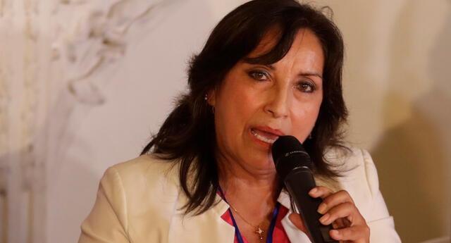 Dina Boluarte,  candidata a primera vicepresidencia por Perú Libre.