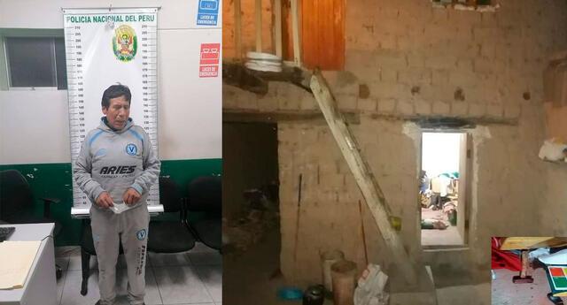 El detenido  en la comisaría y la vivienda donde ocurrió el feminicidio