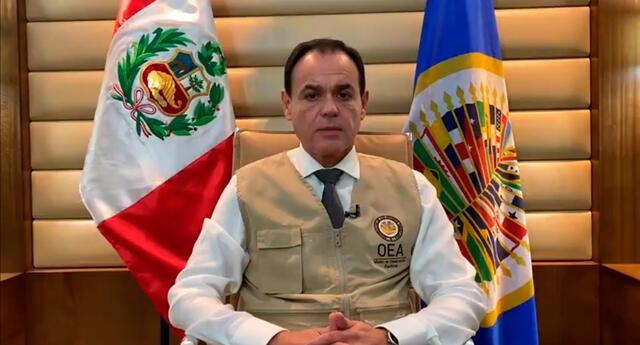 Jefe de la Misión de Observación Electoral en Perú, Rubén Ramírez Lezcano.