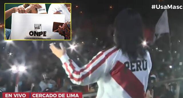 Keiko Fujimori convocó a marcha masiva en el Campo de Marte, Jesús María.