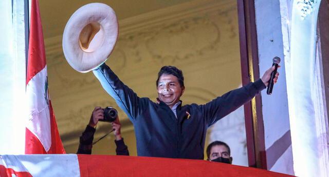 Pedro Castillo quedó en el primer lugar de las elecciones, según el resultado al 100% de actas contabilizadas de la ONPE.