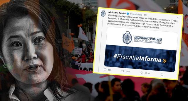 Ministerio Público se pronuncia sobre las amenazas a personalidades peruanas de parte de fujimoristas