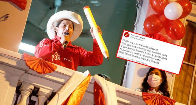 Perú Libre recordó conocida canción de Luis Abanto Morales tras conteo al 100% de la ONPE.