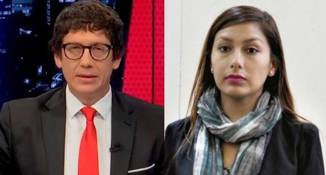 Jaime Chincha y Arlette Contreras tuvieron acalorada discusión.