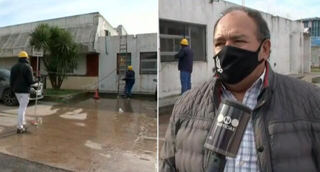 Juan Carlos decidió donar el trabajo de reparación y pintura que necesitaba el hospital.
