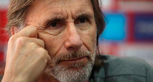 Ricardo Gareca dio una conferencia de prensa virtual tras el partido Perú vs Brasil.
