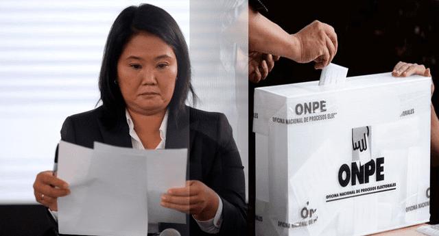 Fuerza Popular, partido de Keiko Fujimori ingresaron cerca de 200 recursos de nulidad por la ventanilla del JNE, y 150 fueron ingresadas a destiempo.