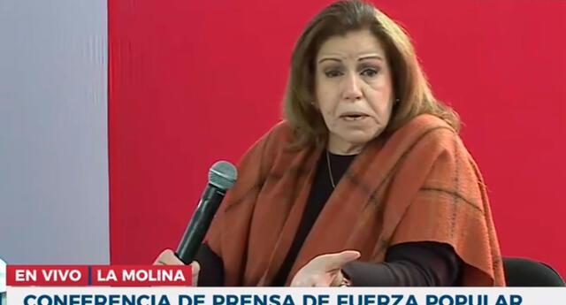 Lourdes Flores anunció ser la nueva integrante del equipo legal de Fuerza Popular.