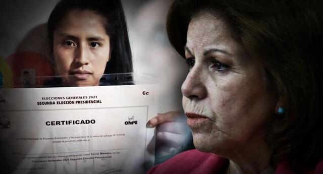 Lourdes Flores insiste en que hubo firmas falsas en las actas electorales del proceso electoral.