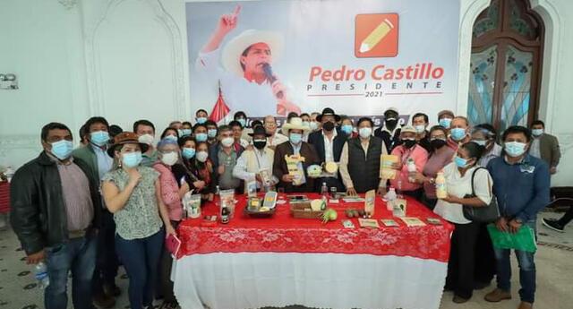 Pedro Castillo se reunió con líderes agrarios.