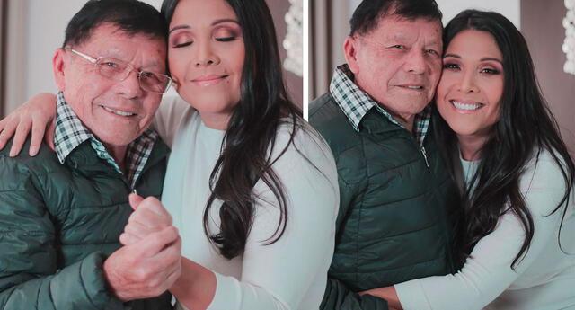 Tula Rodríguez se mostró emocionada de pasar el 'Día del padre' junto a don Pedro.