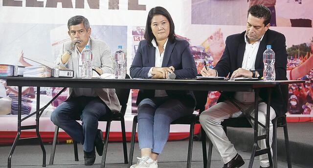Keiko Fujimori, Luis Galarreta y Miguel Torres insisten en cuestionar el proceso, pero no logran demostrar presuntas irregularidades que mencionan.
