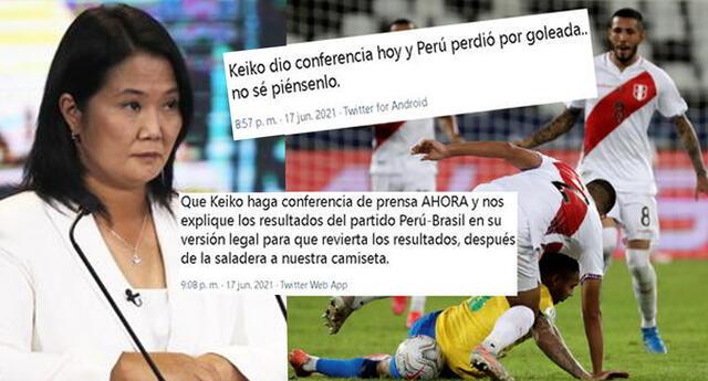 """""""¡Salada!"""": usuarios dicen que Perú fue goleado porque Keiko Fujimori dio conferencia [VIDEO]"""