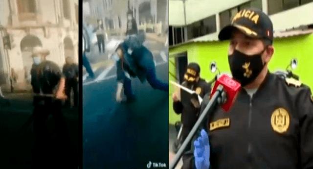 PNP se manifestó sobre la marcha de los ronderos donde utilizaron machetes