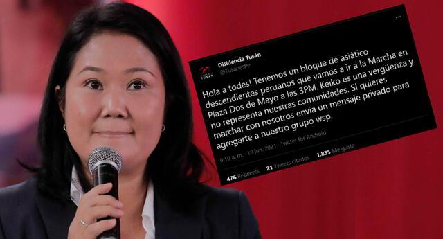 El bloque de asiático expresó su rechazo a Keiko Fujimori y sus denuncias de fraude.