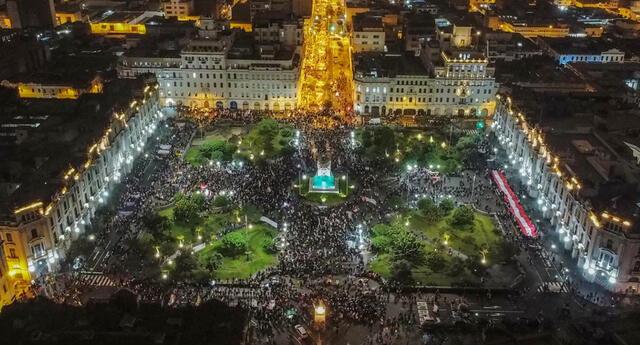Este sábado se desarrollo marcha a favor de Pedro Castillo. Manifestación concentró a miles.