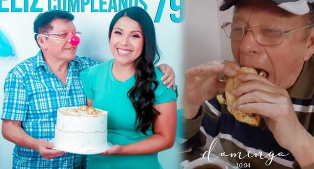 Tula Rodríguez emociona a su papito con un rico desayuno por su día