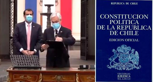 """""""Esta Convención Constitucional va a ser un hito histórico, porque por primera vez en nuestra historia estaremos escribiendo democráticamente una nueva Constitución para Chile"""", dijo Piñera."""