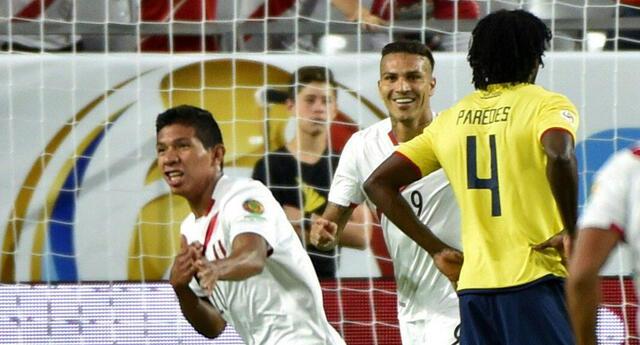 Edison Flores marcó el último enfrentamiento de Perú vs Ecuador en la Copa América 2016.