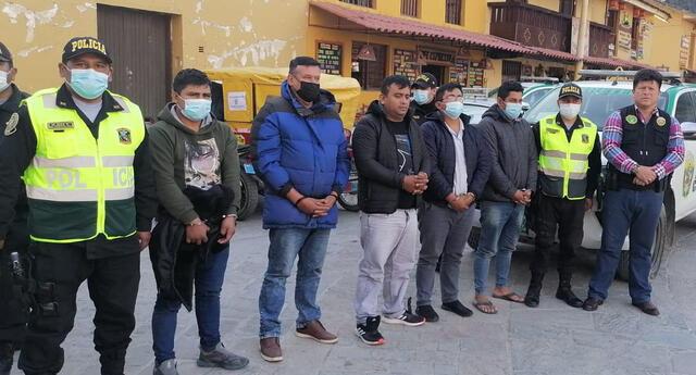 Integrantes de la presunta banda criminal que robaron joyería.