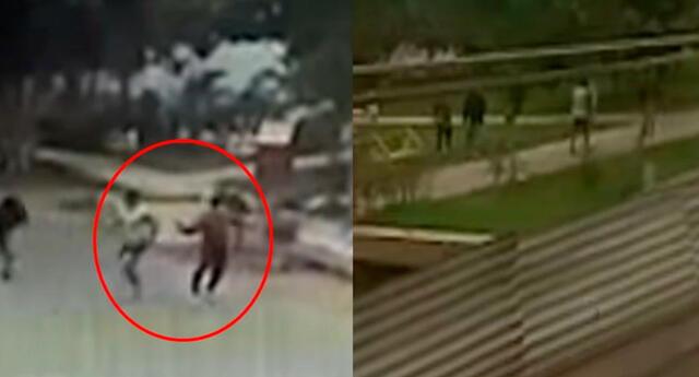 balacera entre barras bravas de Alianza Lima y Universitario