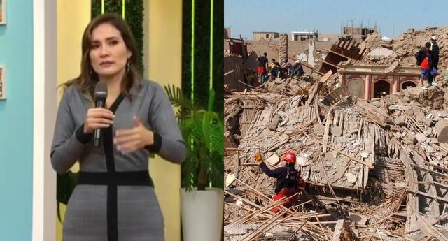 La periodista Alvina Ruiz resaltó que el temblor de Pisco fue muy duro, y recordó que un experto le contó cómo comportarse ante estas situaciones.
