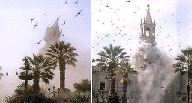 Terremoto del 2001 hizo caer una de las torres de la Catedral y dejó la otra dañada.