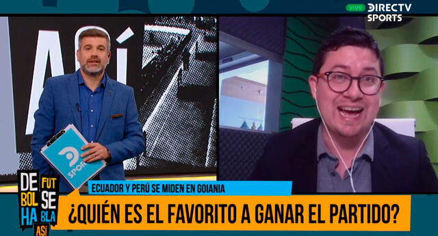 Perú es favorita para ganar estar tarde a Ecuador, dice periodista de ese país.