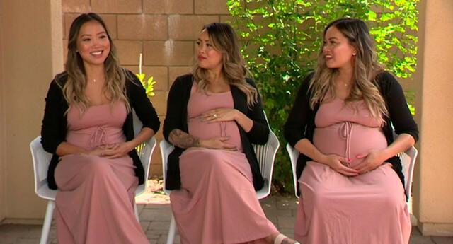 Las hermanas trillizas Tran darán la bienvenida a dos niños y una niña.