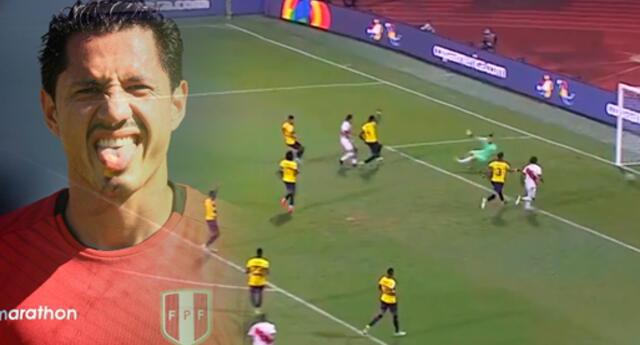 Gianluca Lapadula hizo historia con la selección peruana: consiguió su primer gol.