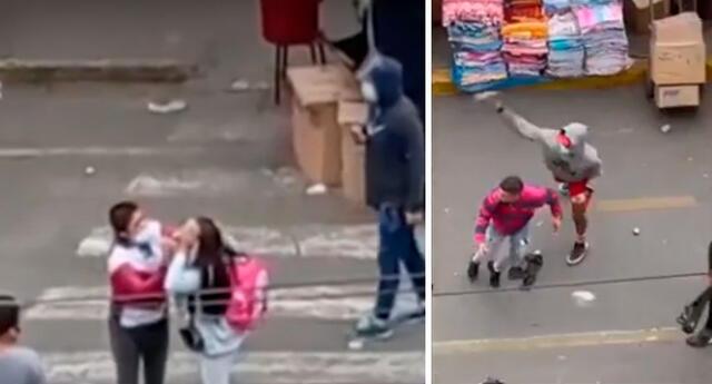 Mujer resultó con una herida en la cabeza producto del enfrentamiento entre ambulantes y fiscalizadores de la MML.
