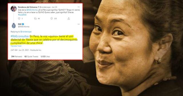 Quedo totalmente claro. RAE responde a usuario tras hablar del 'Quino' de Keiko Fujimori.
