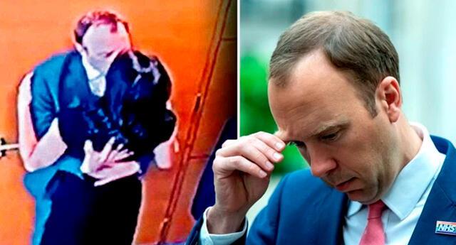 Matt Hancock dimitió a su cargo luego que la guía de distanciamiento social al besar a una colega.