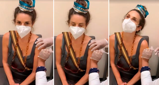 Rebeca Escribens fue inoculada contra el COVID-19.