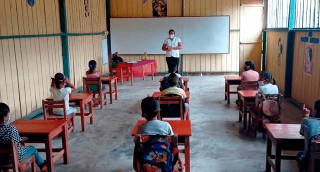 Minedu espera que las más colegios puedan sumarse a clases semipresenciales.