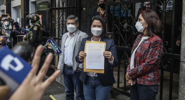 Keiko Fujimori entregó carta a Francisco Sagasti