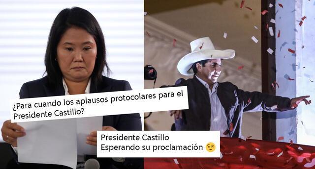 Las redes sociales siguen de cerca el proceso electoral de Pedro Castillo y Keiko Fujimori.