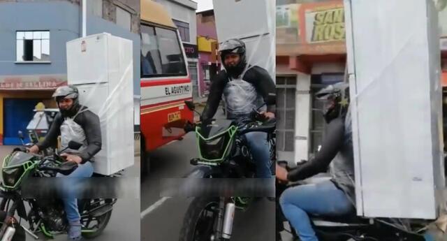 Polémico video del motorizado se hizo viral en las redes sociales.