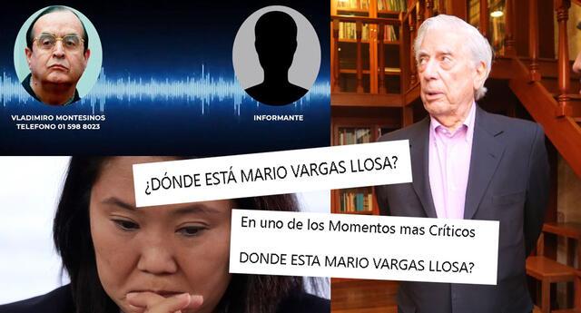 El nombre de Mario Vargas Llosa llamó la atención en las redes sociales.