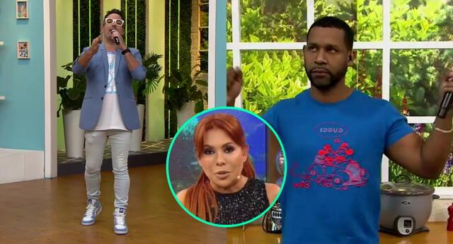 Santi Lesmes aseguró que Edson Dávila utiliza atuendos de marca no originales, y le informó que Magaly Medina lo mencionaría en su programa.