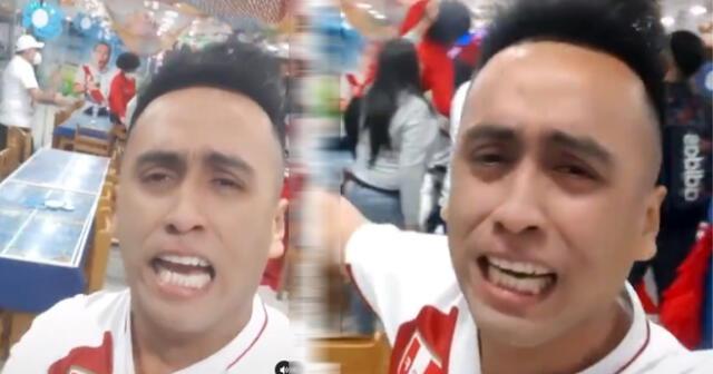 """Imitador rompe en llanto tras penal y dice """"la c***, pero estamos en semifinales"""" [VIDEO]"""