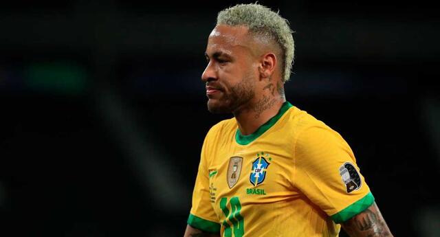 Neymar calentó la semifinal entre Perú vs. Brasil.