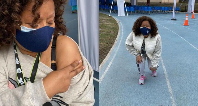 La cantante Bartola se mostró emocionada tras haber recibido su primera dosis contra la COVID-19, así lo demostró en sus redes sociales.