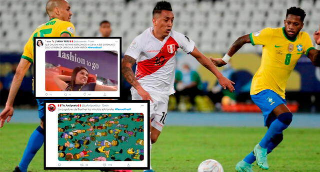 Usuarios se divierte pese a derrota de Perú contra Brasil.