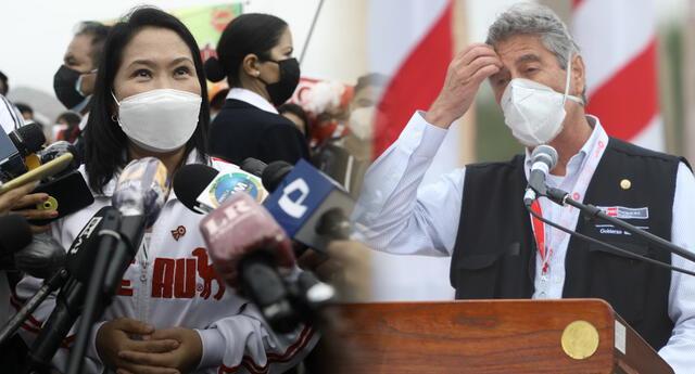 Keiko Fujimori responde, deportivamente, a Sagasti.