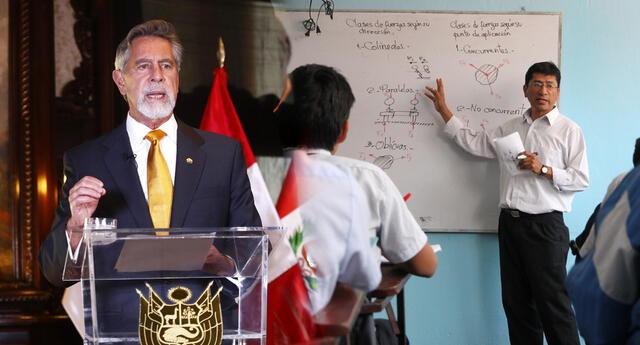 Francisco Sagasti saludó a los docentes por su día y trabajo en medio de la pandemia.