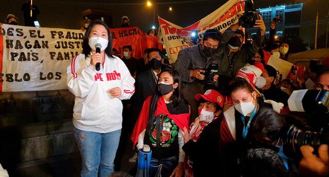 Cuarto Poder corta su señal para pasar la trasmisión en vivo de Keiko Fujimori